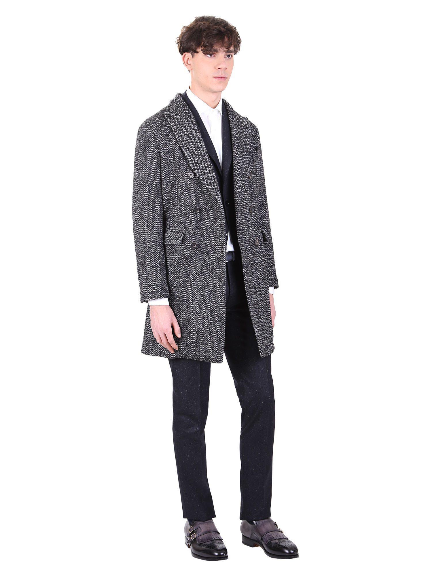 Dell'Oglio Wool Cappotto Di Misto Lana for Men