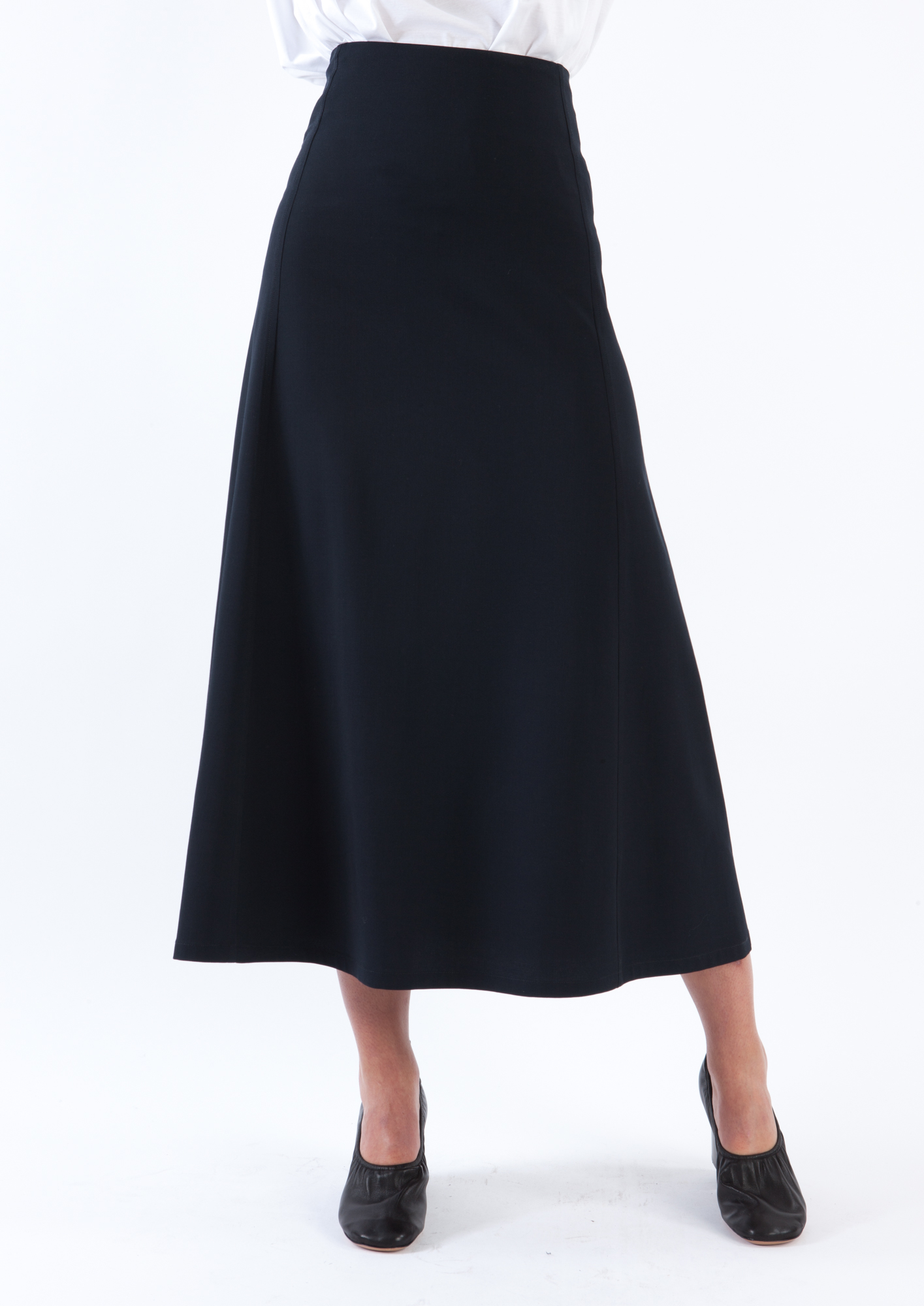 lemaire navy blue skirt in blue lyst
