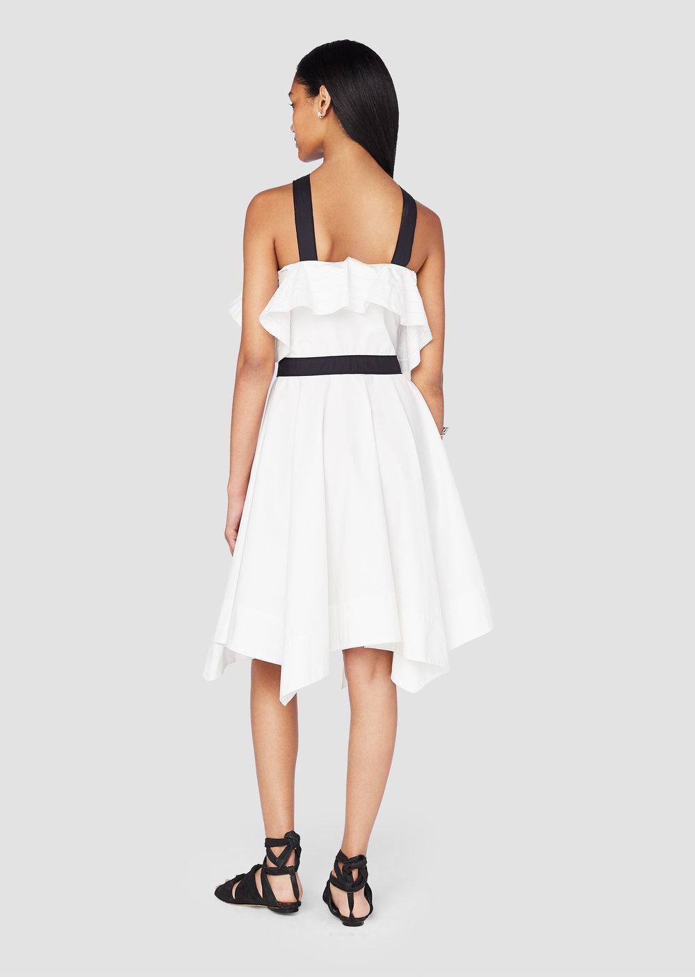 Off The Shoulder Halter Dress - White Derek Lam JOcBforu5B