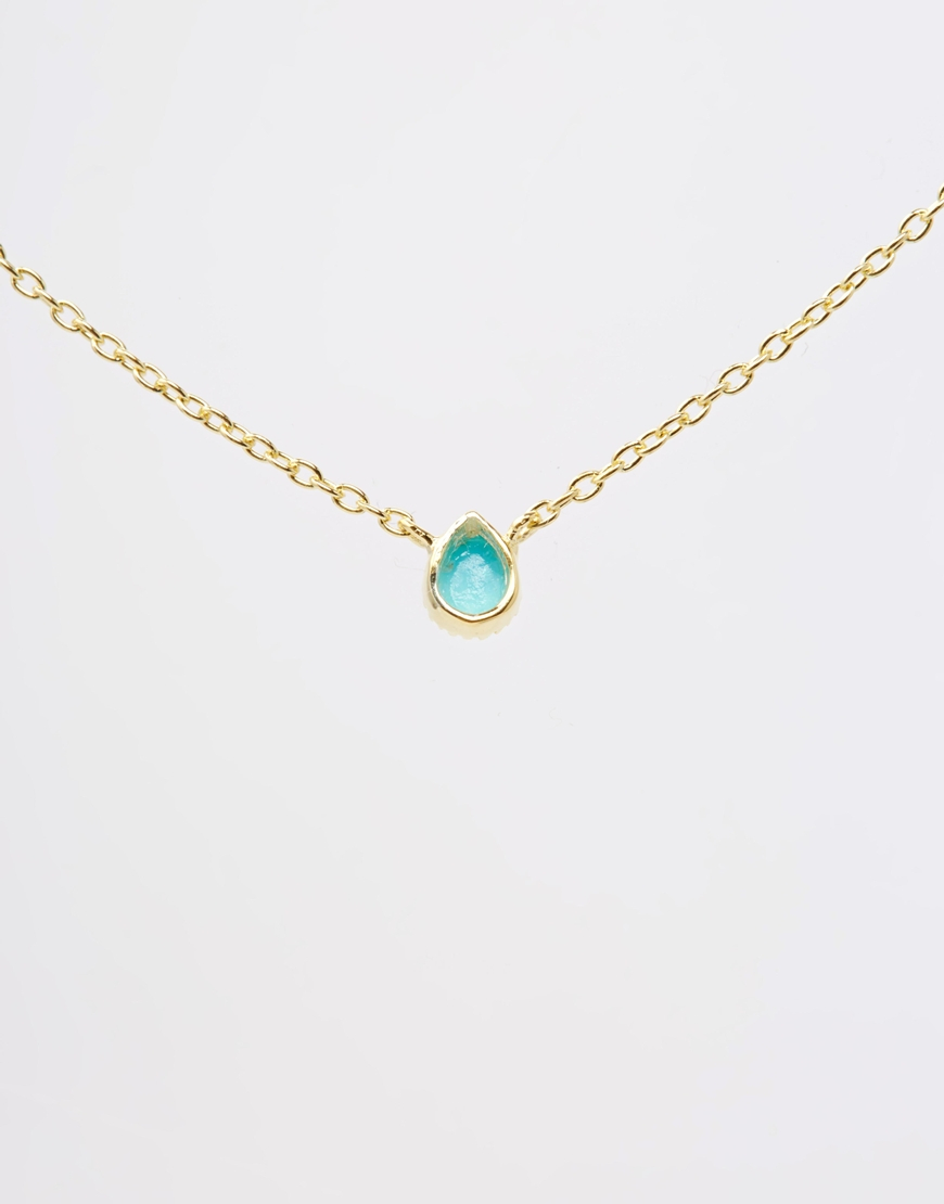 158174b987162 ASOS Metallic Gold Plated Sterling Silver December Birthstone Choker  Necklace