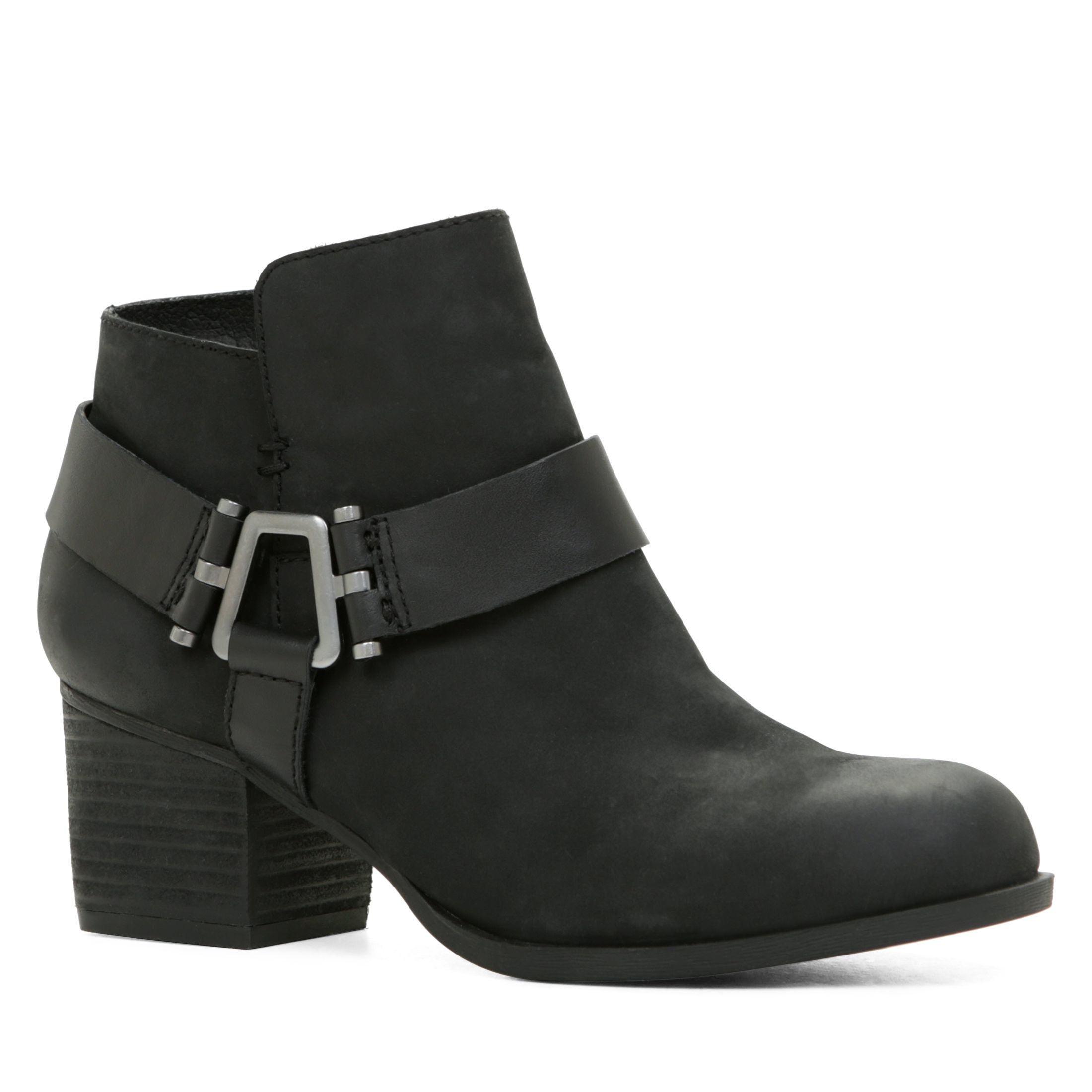 aldo black arielle mid heel ankle boots lyst