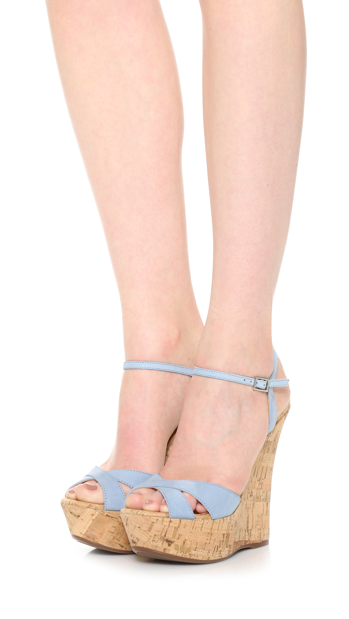 c06e52d30017 Lyst - Schutz Emiliana Wedge Sandals in Blue