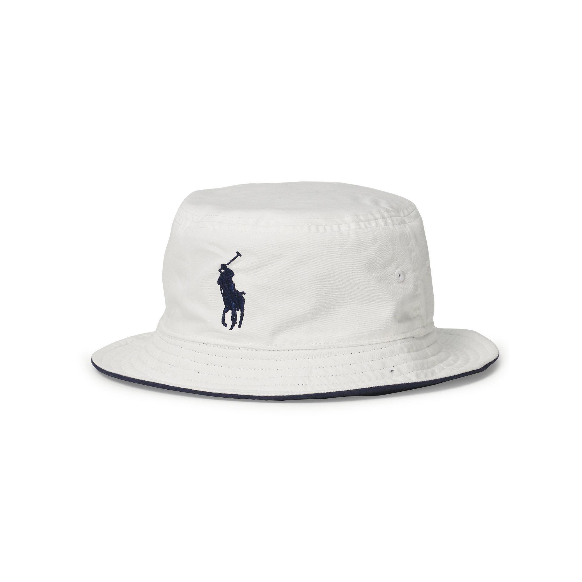 af8df3d4e4c Lyst - Polo Ralph Lauren Us Open Reversible Bucket Hat in White for Men