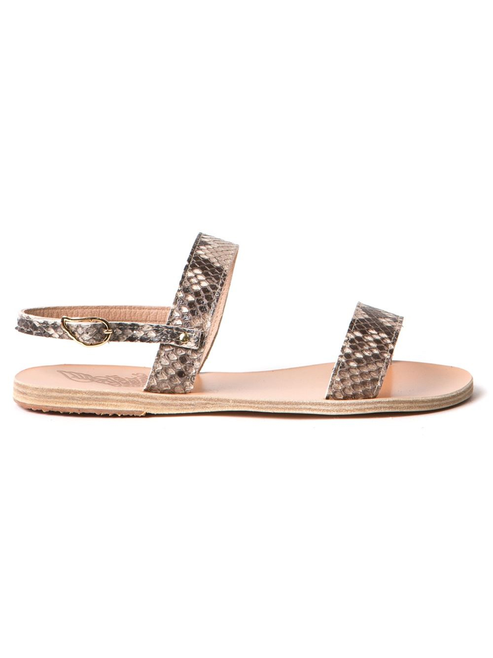 Ancient Greek Sandals Clio Flat Sandal In Beige Nude