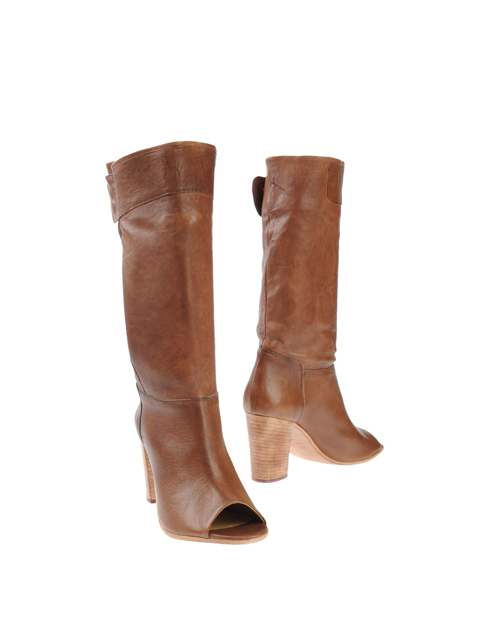 lemar 232 high heeled boots in brown lyst