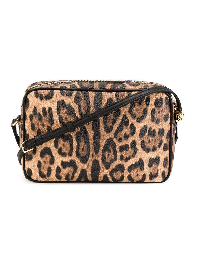 953a4228be Lyst - Dolce   Gabbana Leopard Print Crossbody Bag in Natural