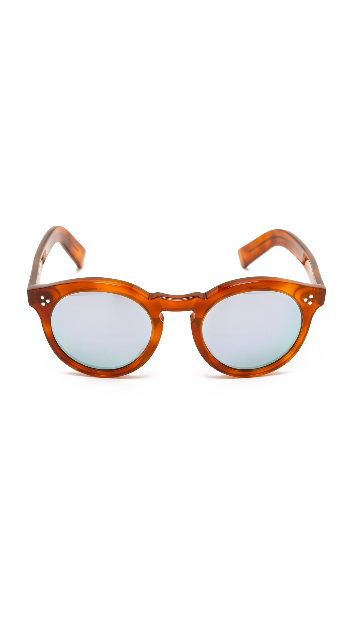 83e7d831dc Illesteva Leonard Ii Mirrored Sunglasses - Red Havana silver in Red ...