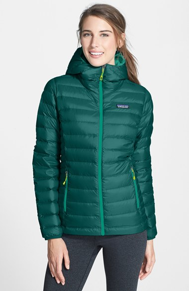 Lyst Patagonia Hooded Quilted Jacket In Green