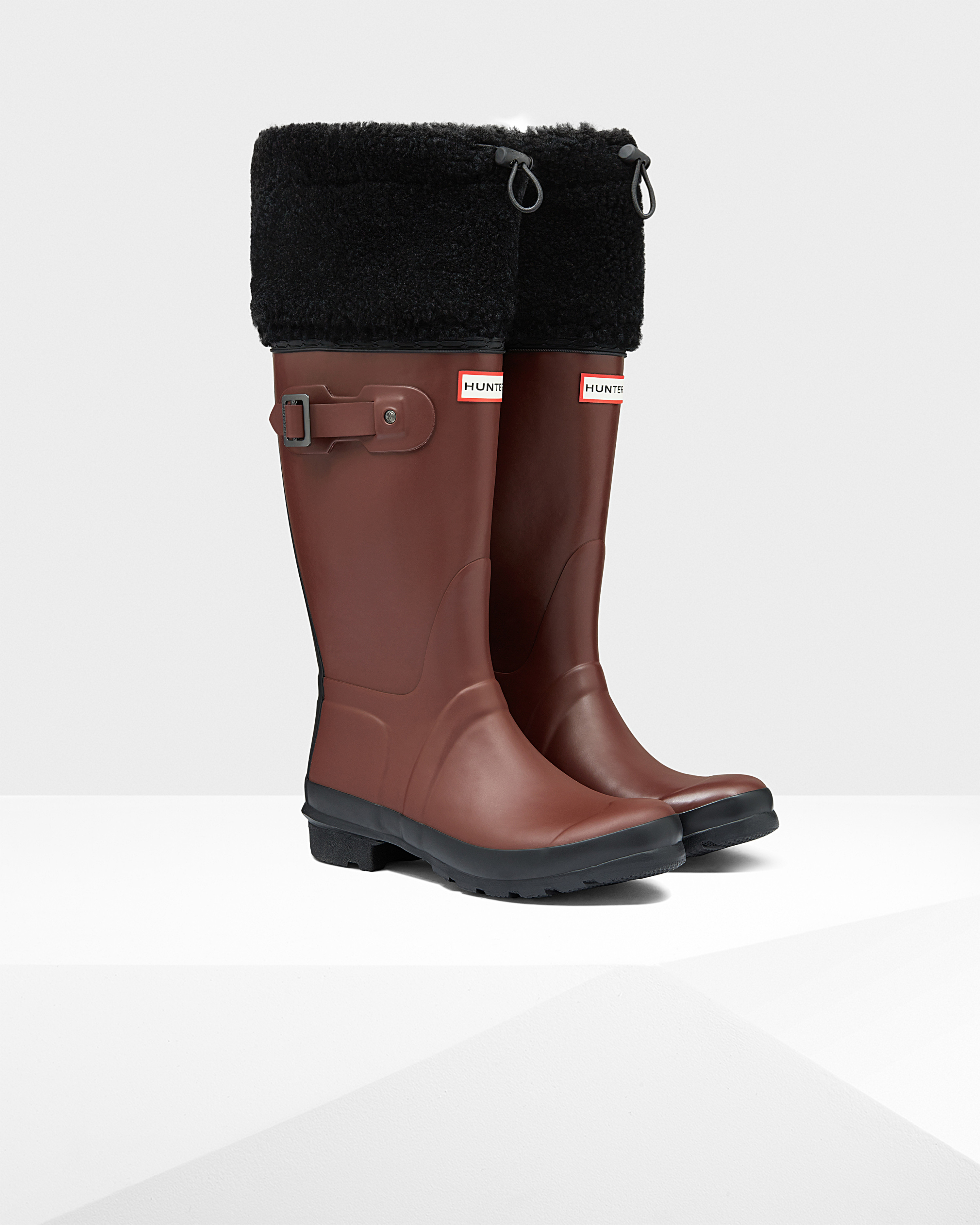 s original shearling cuff boots in brown