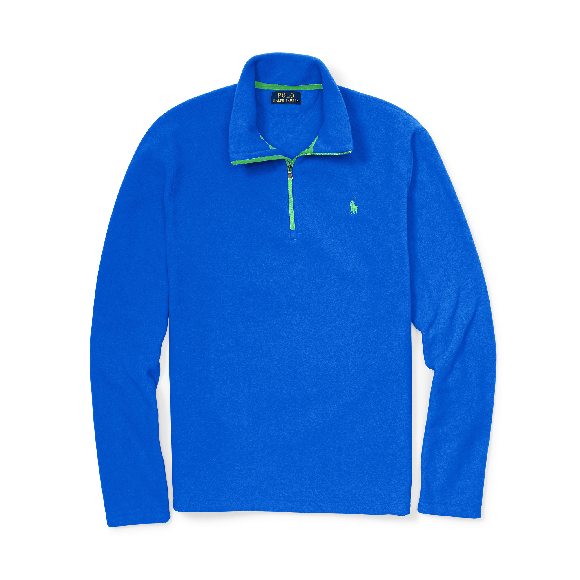 polo ralph lauren blue microfleece half zip pullover for men lyst. Black Bedroom Furniture Sets. Home Design Ideas