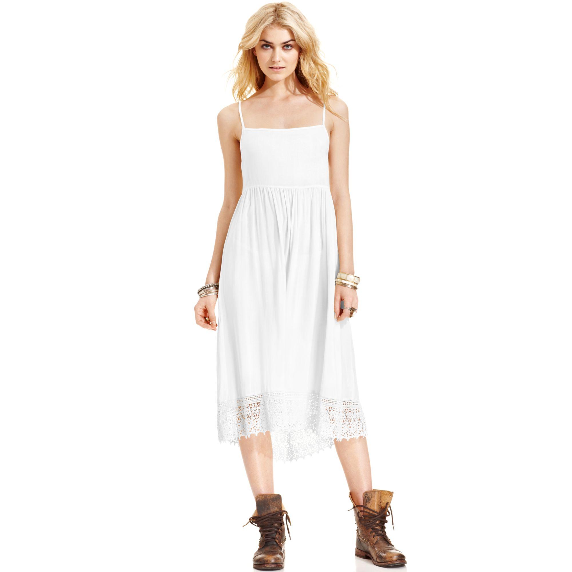 Free People Crochet Lace Dress In White Lyst