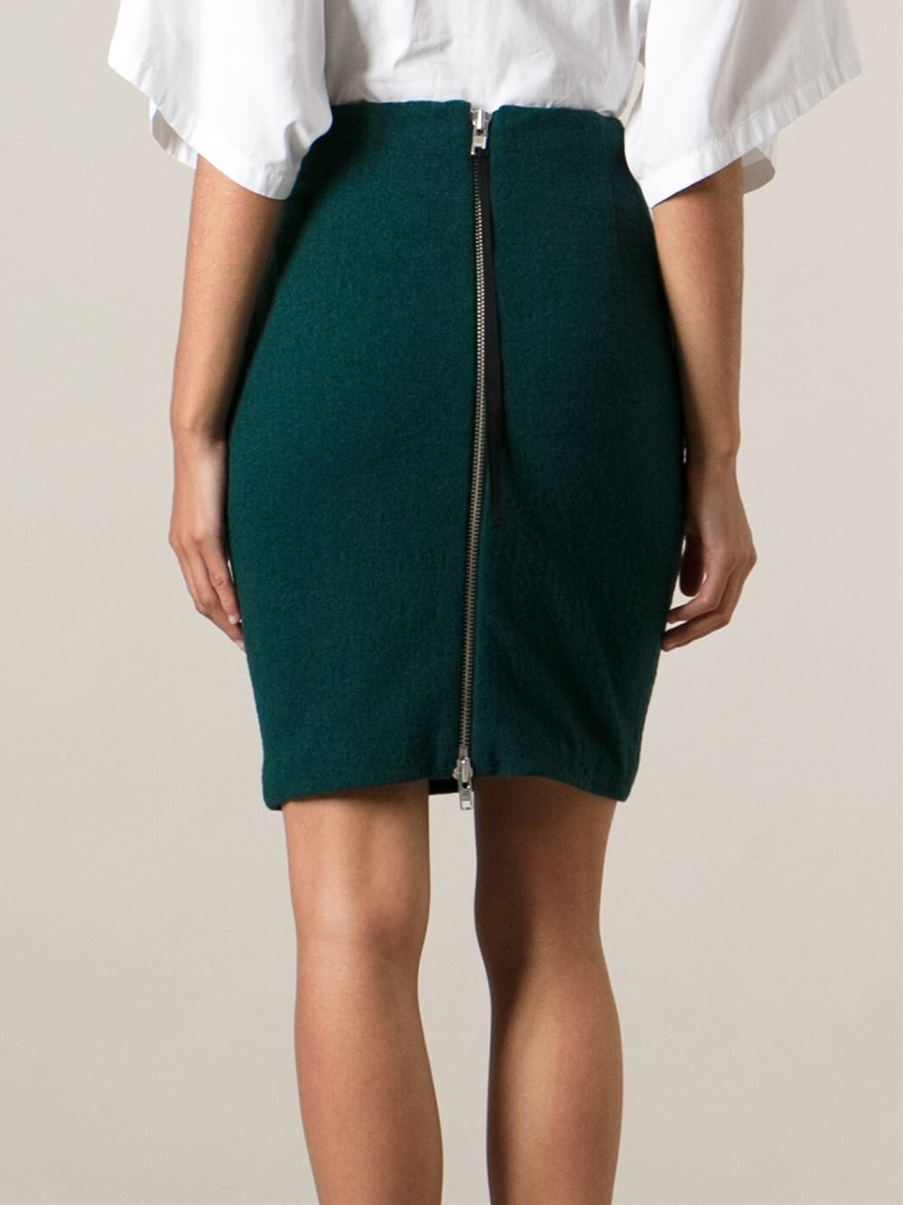 D.efect Short Pencil Skirt in Green | Lyst