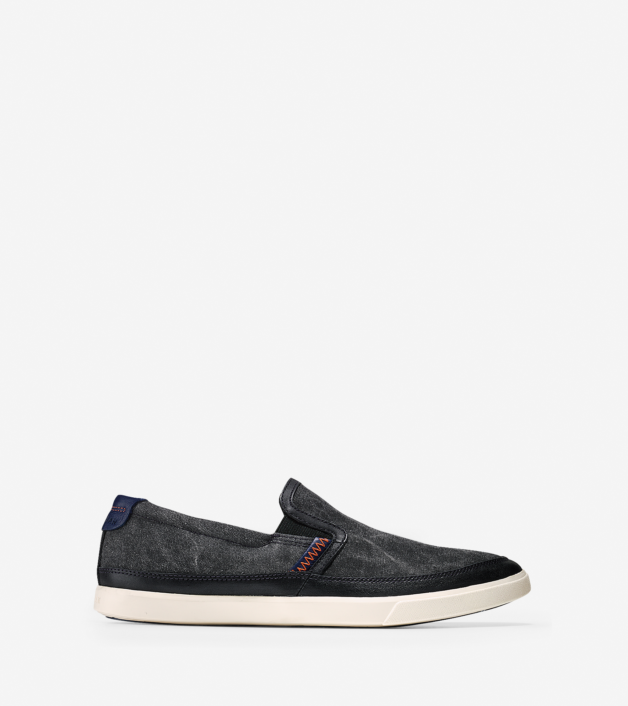 cole haan joshua slip on sneakers in black for lyst