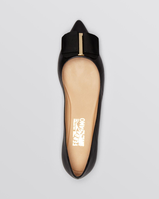Salvatore Ferragamo Velvet Pointed-Toe Flats very cheap XmTJLwkeVv