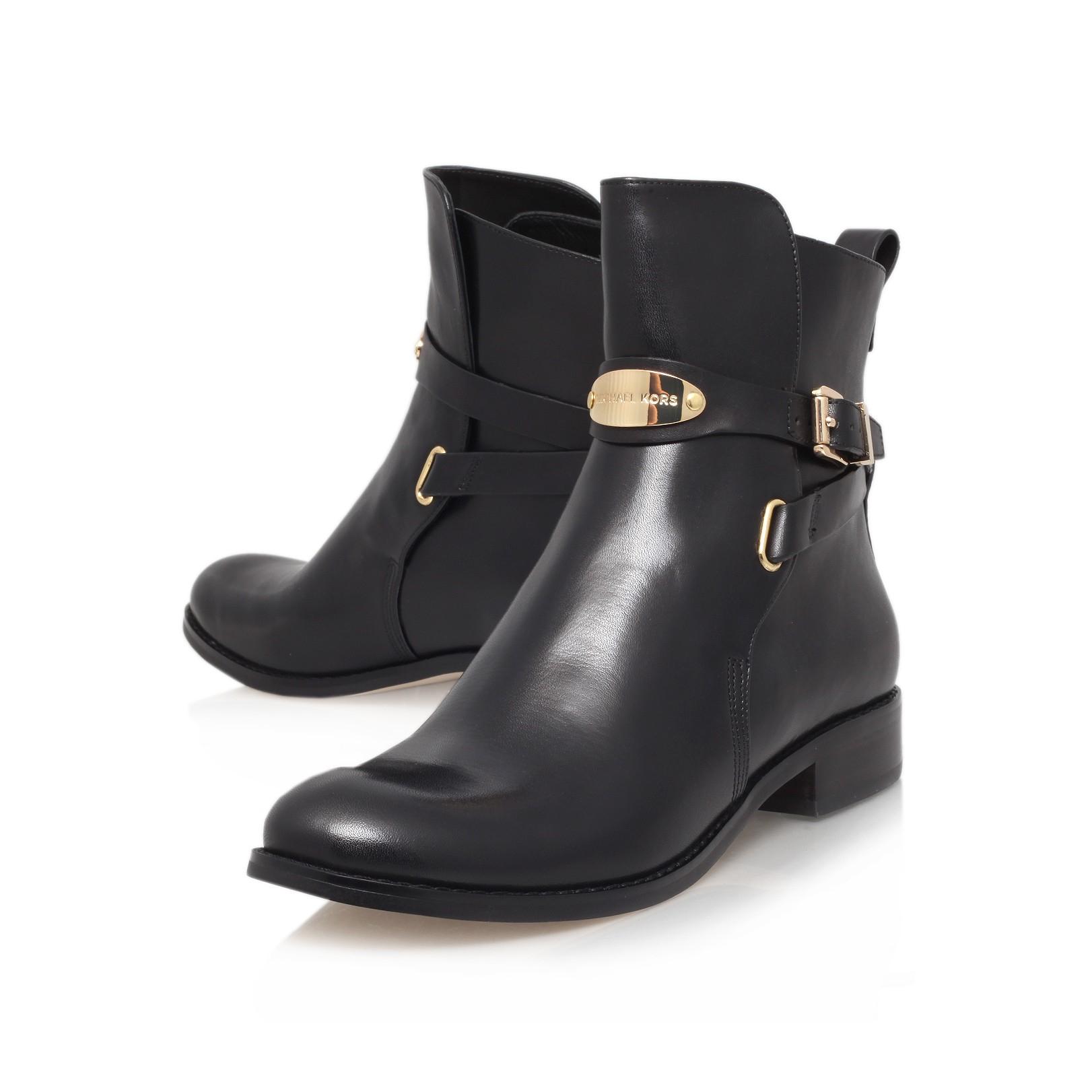 michael michael kors arley ankle boot in black lyst. Black Bedroom Furniture Sets. Home Design Ideas