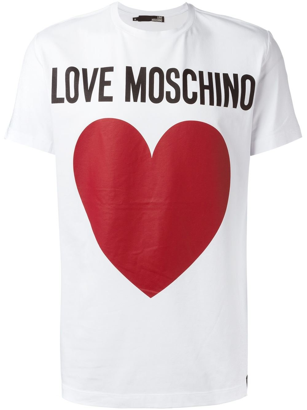 love moschino heart print t shirt in white for men lyst. Black Bedroom Furniture Sets. Home Design Ideas