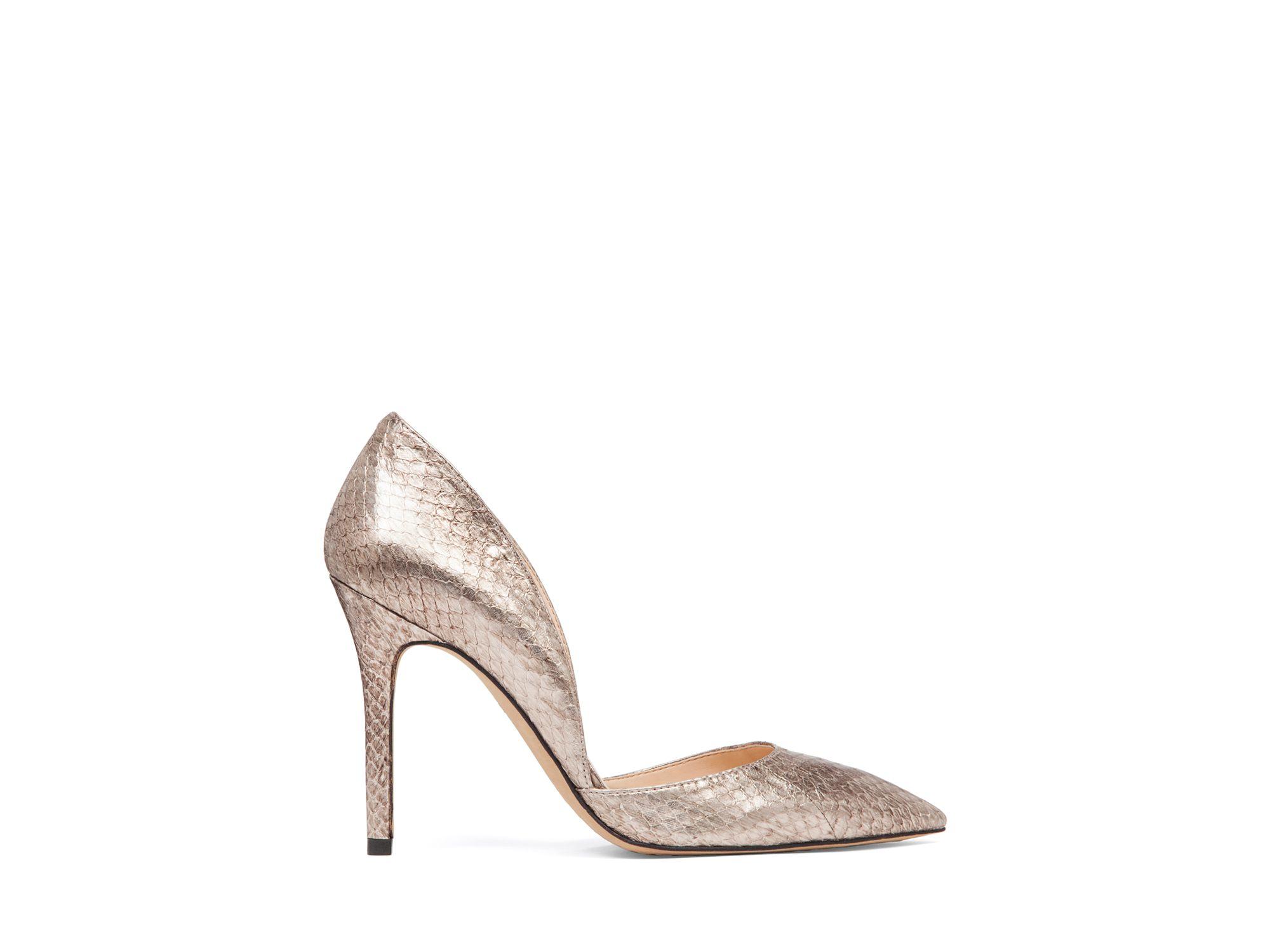 Silver Snakeskin Heels