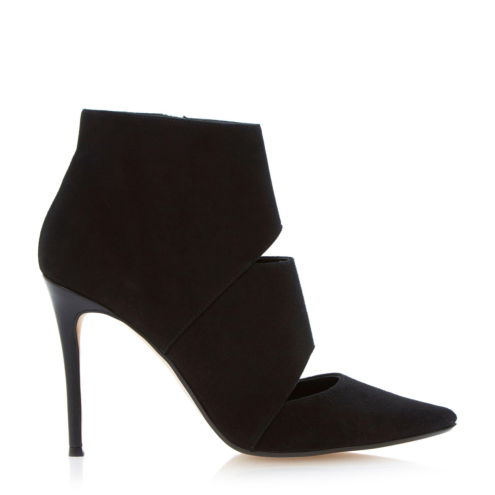 dune adrianne cutout heeled shoe boot in black lyst