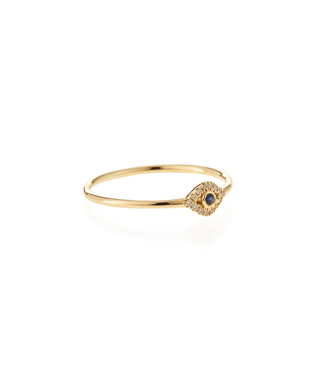sydney evan 14k gold small evil eye ring in
