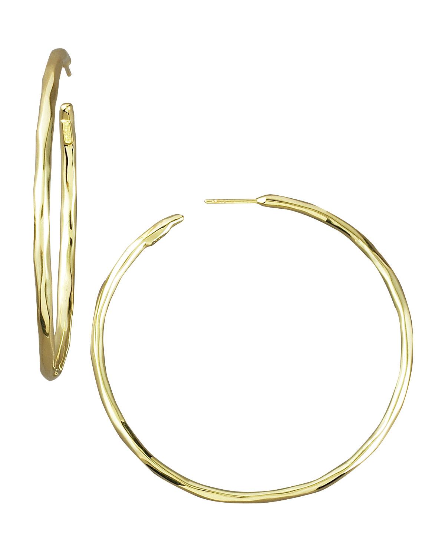 ippolita thin glamazon hoop earrings in metallic lyst