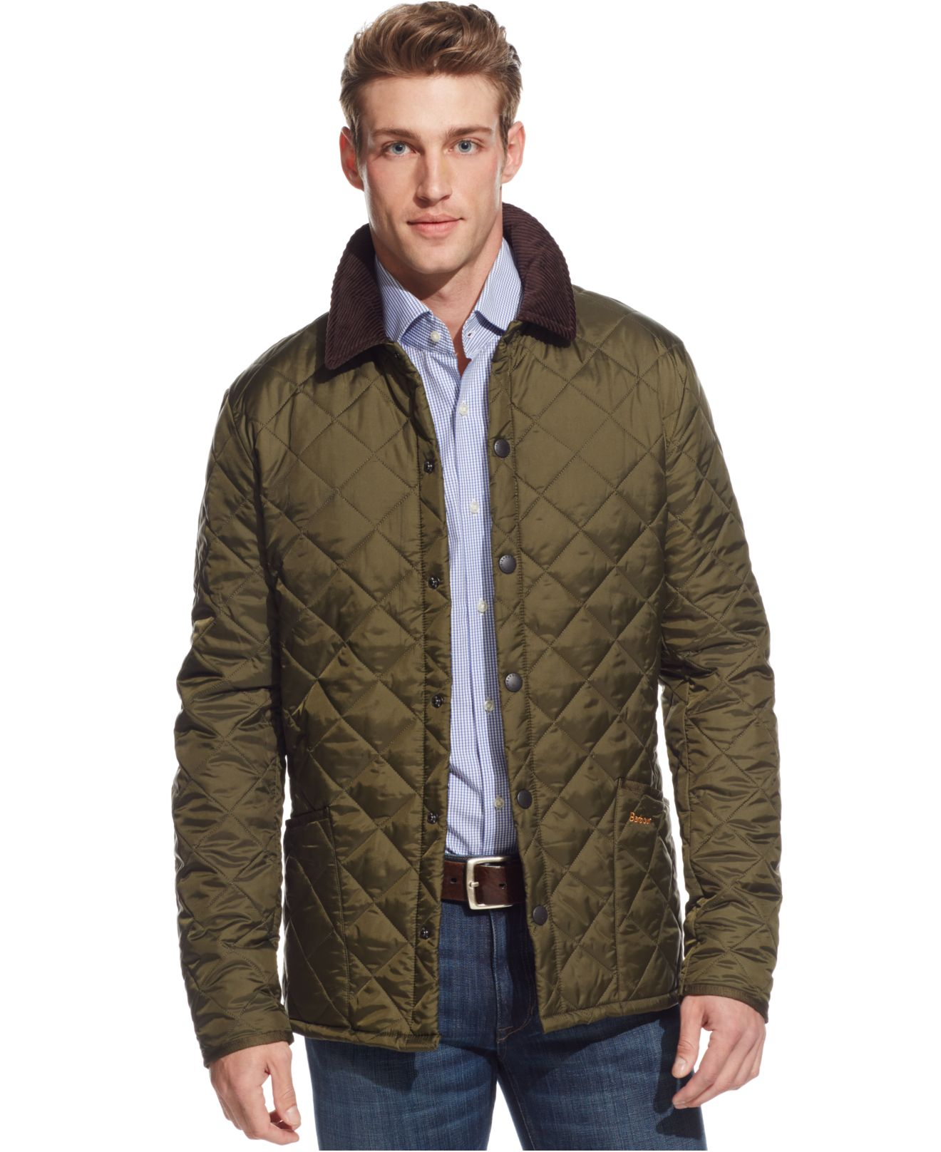 Barbour Men S Heritage Liddesdale Jacket In Green For Men