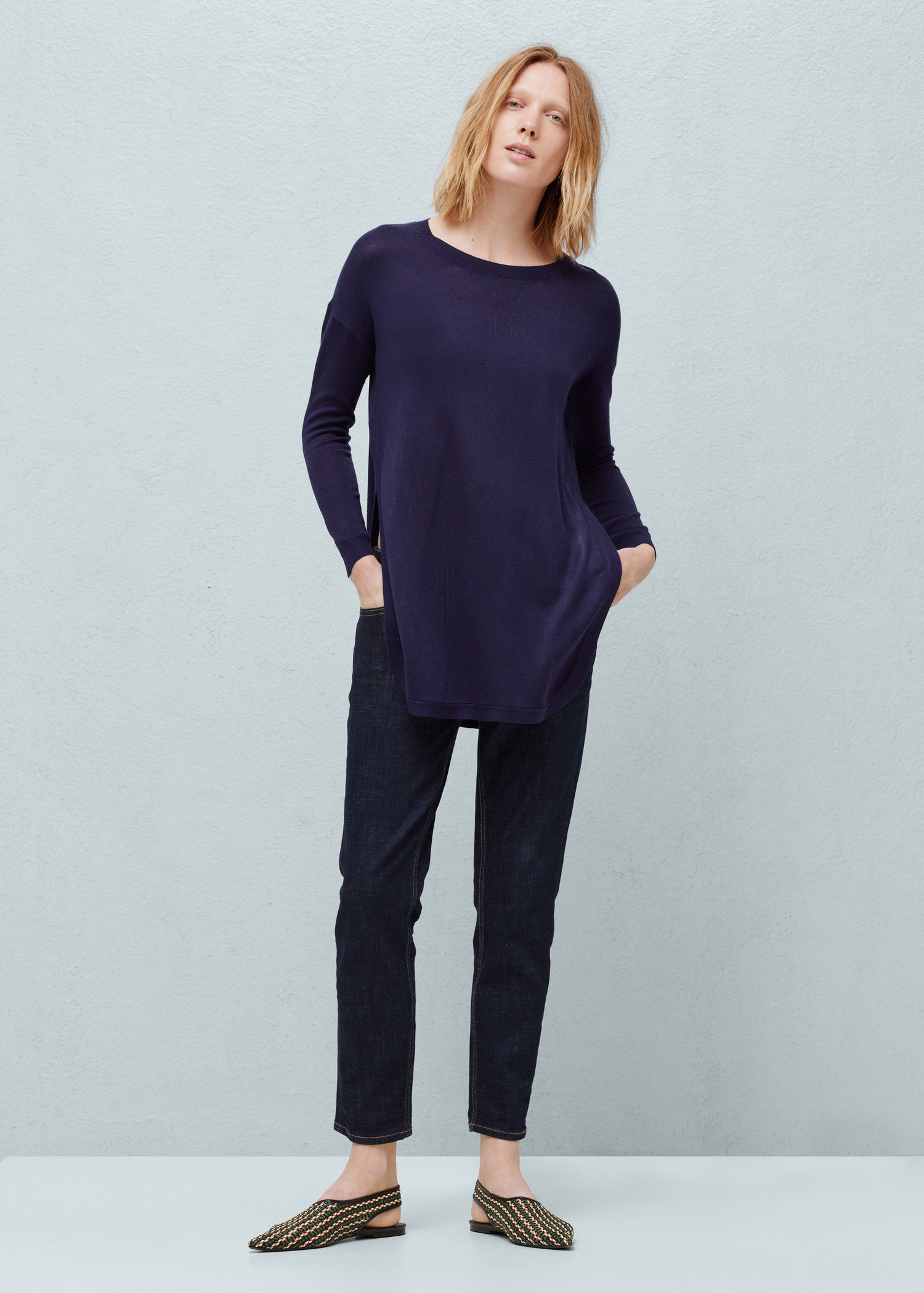 MANGO Fine-knit oversize sweater Cheap Sale Pick A Best Free Shipping Low Shipping Sale Largest Supplier Lowest Price Sale Online TuQVyA