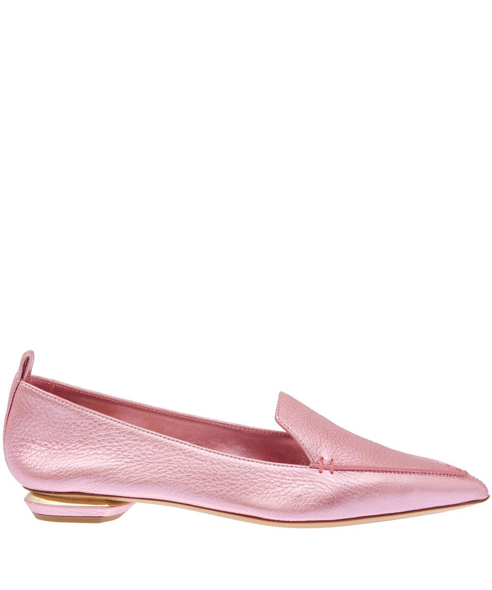 Pink Point Beya Nicholas Kirkwood Loafers Toe Leather AL35R4j