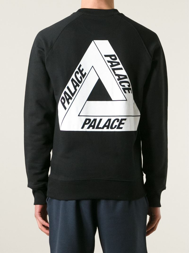Palace Back Print Sweatshirt In Black For Men | Lyst