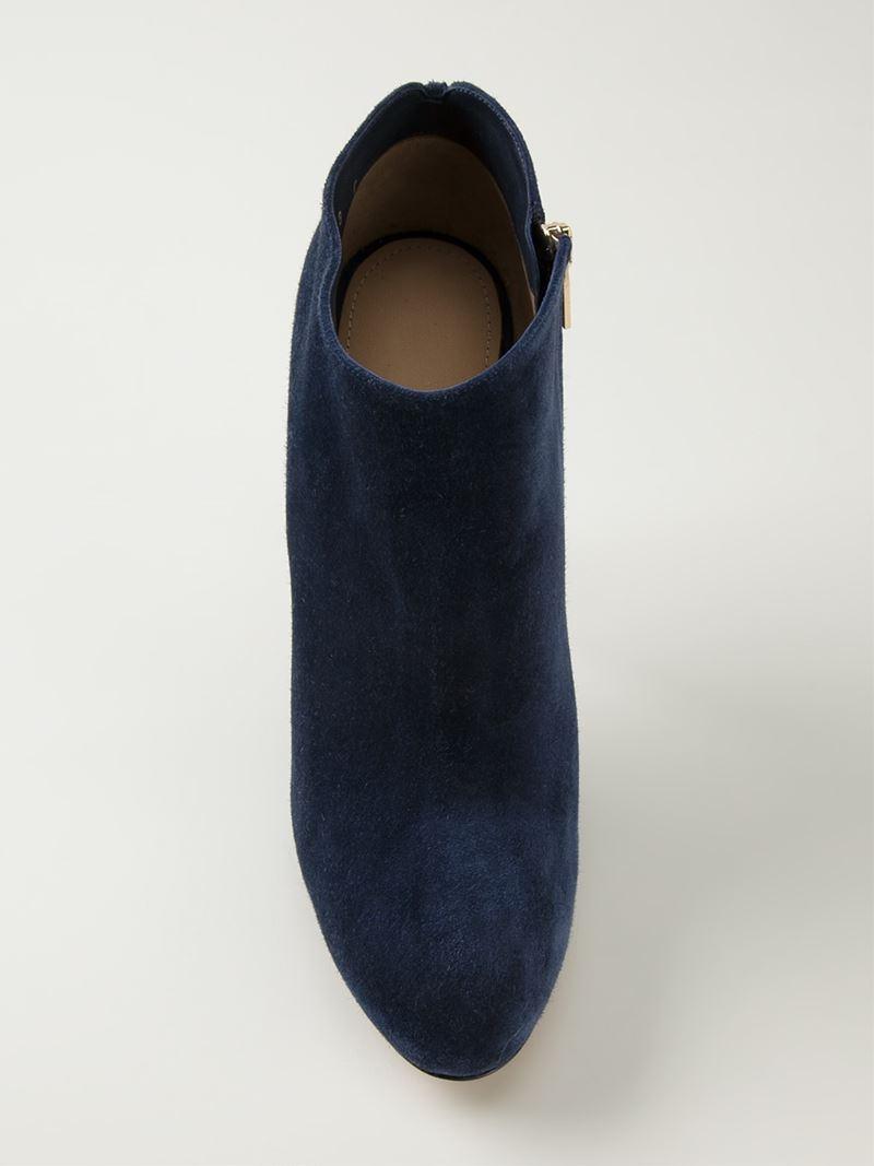 Ferragamo 'Rufia' Ankle Boots in Blue