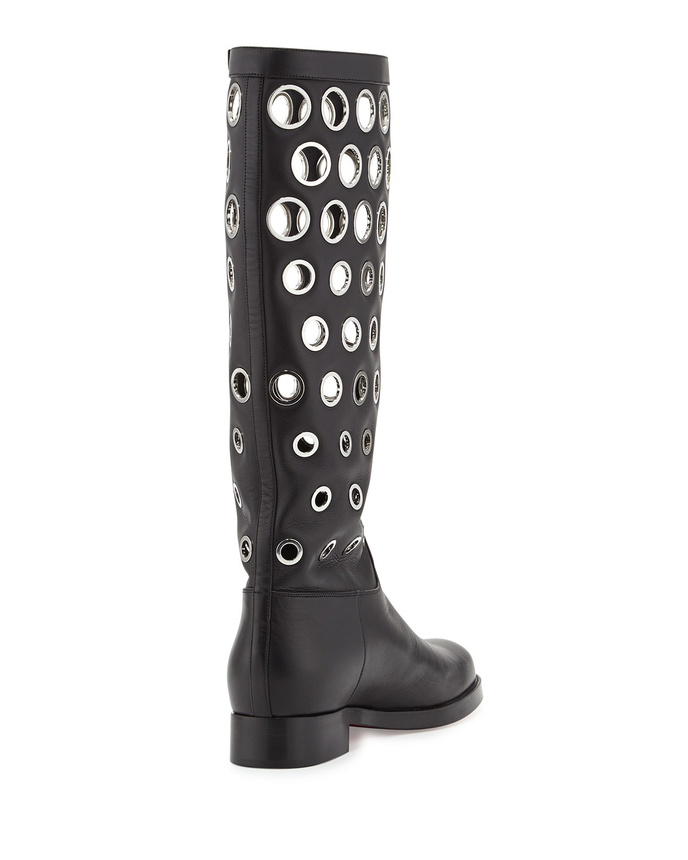black christian louboutin mens sneakers - christian louboutin fur lined boots - Bavilon Salon