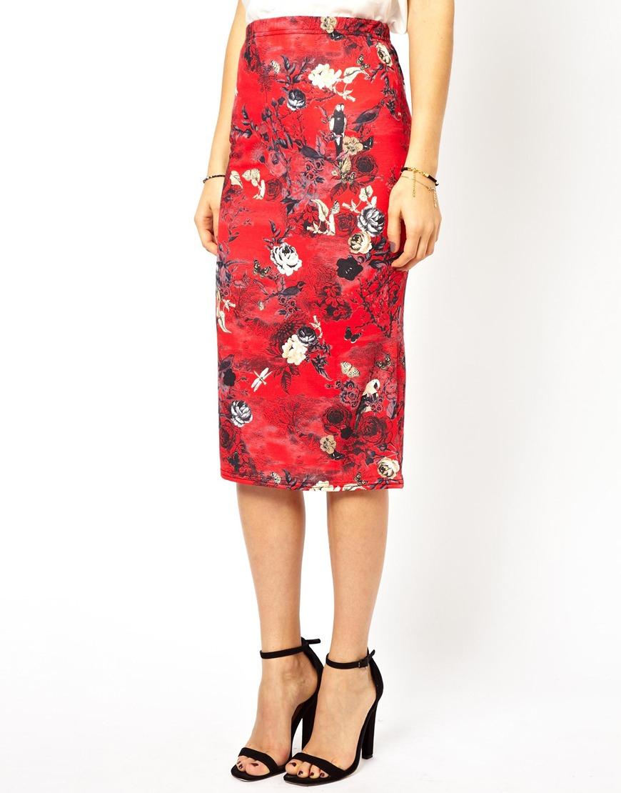floral pencil skirt - photo #7