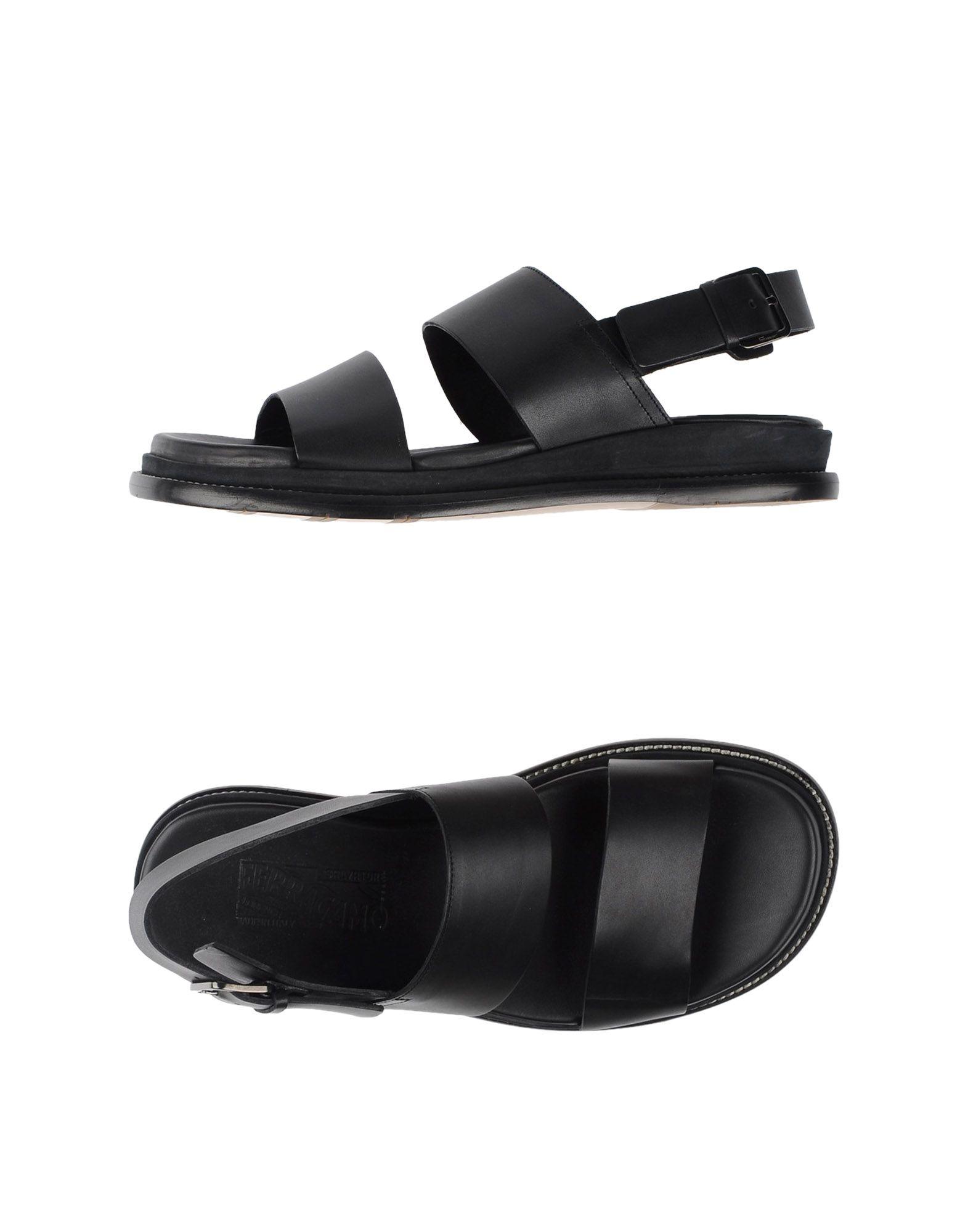 4af62a437f7e Ferragamo Sandals in Black for Men - Lyst