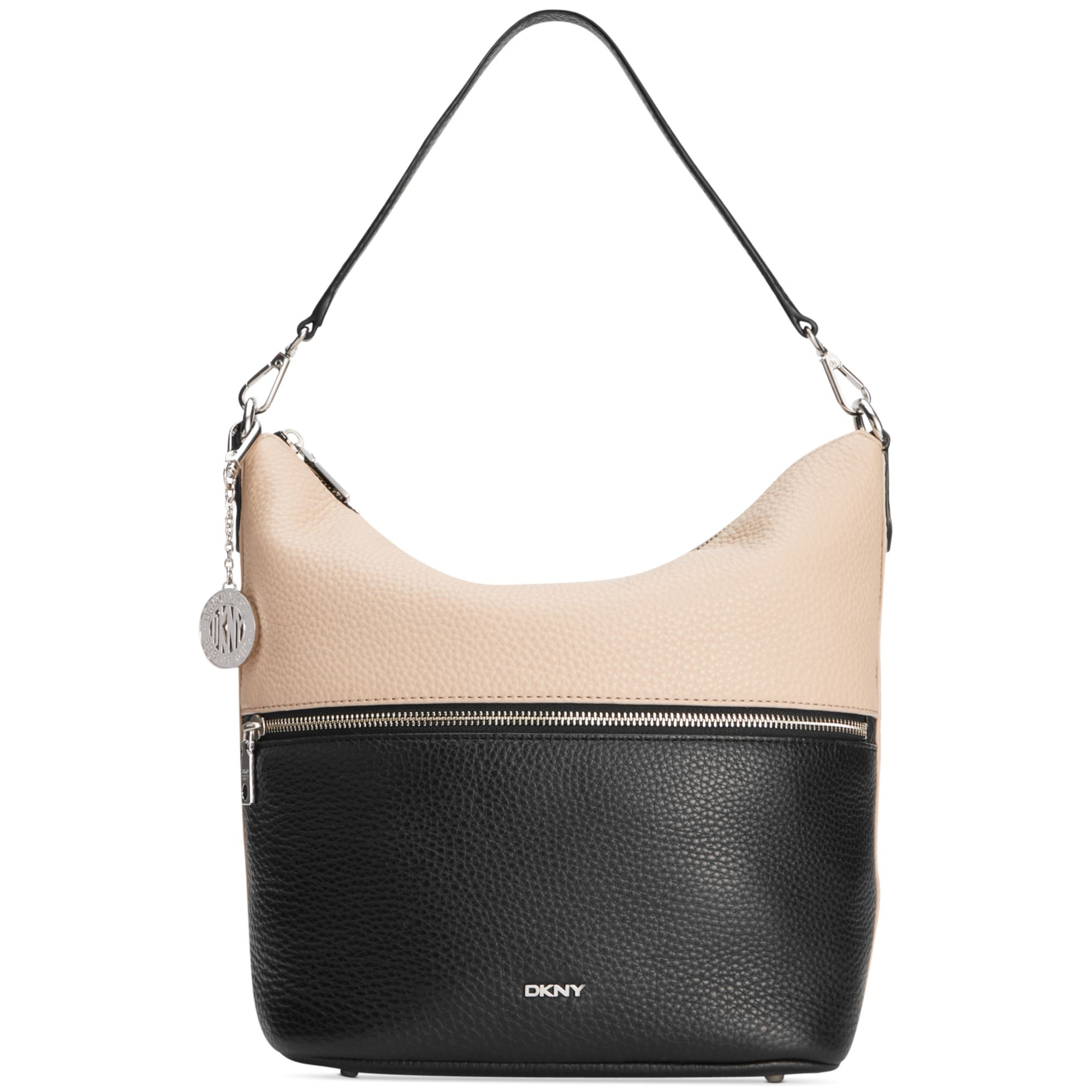 7eaf695f5e82 Lyst - Dkny Tribeca Bucket Hobo in Black