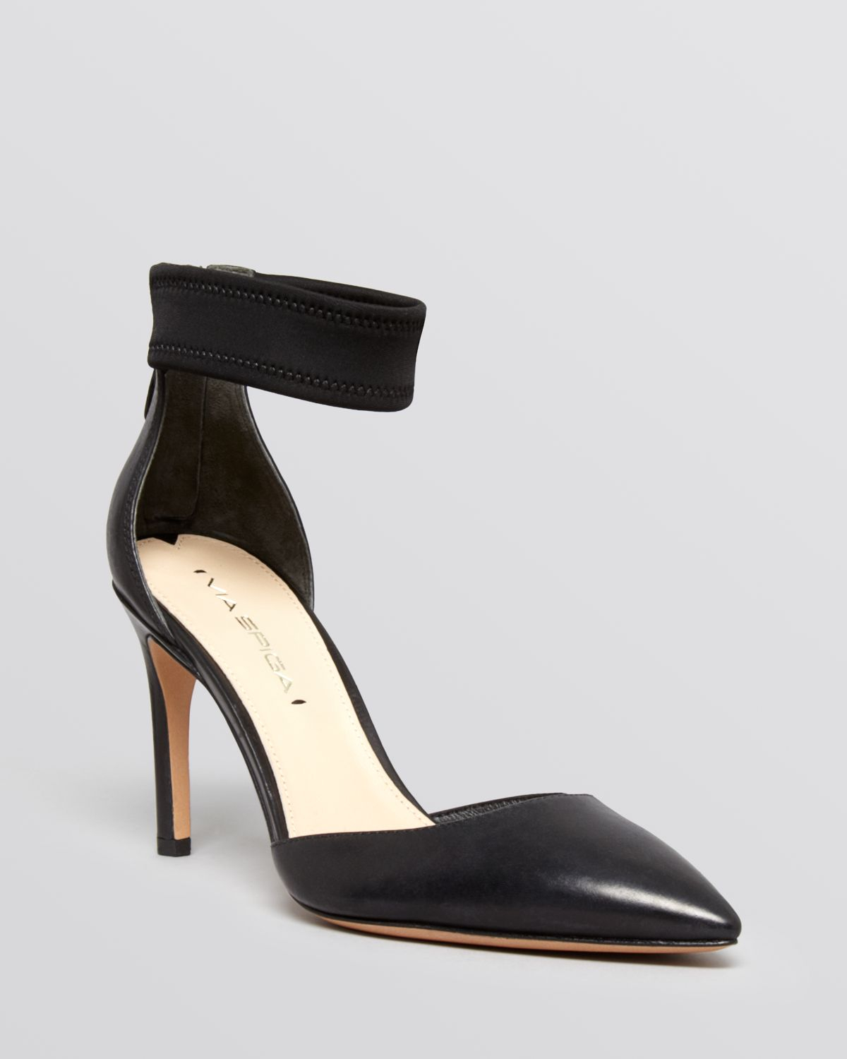 Lyst - Via spiga Pointed Toe Ankle Strap Pumps - Ife High Heel in ...