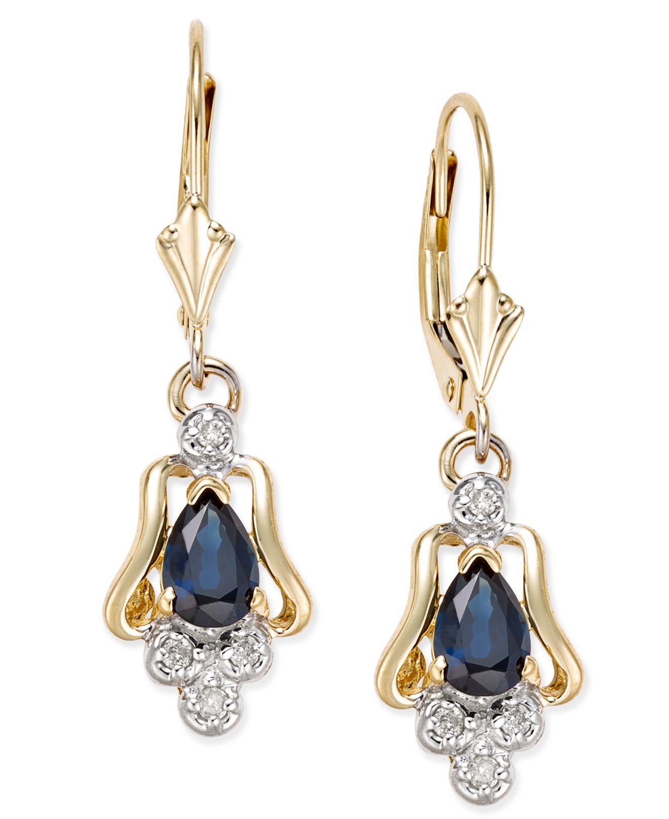 Sapphire Diamond Earrings Macy S