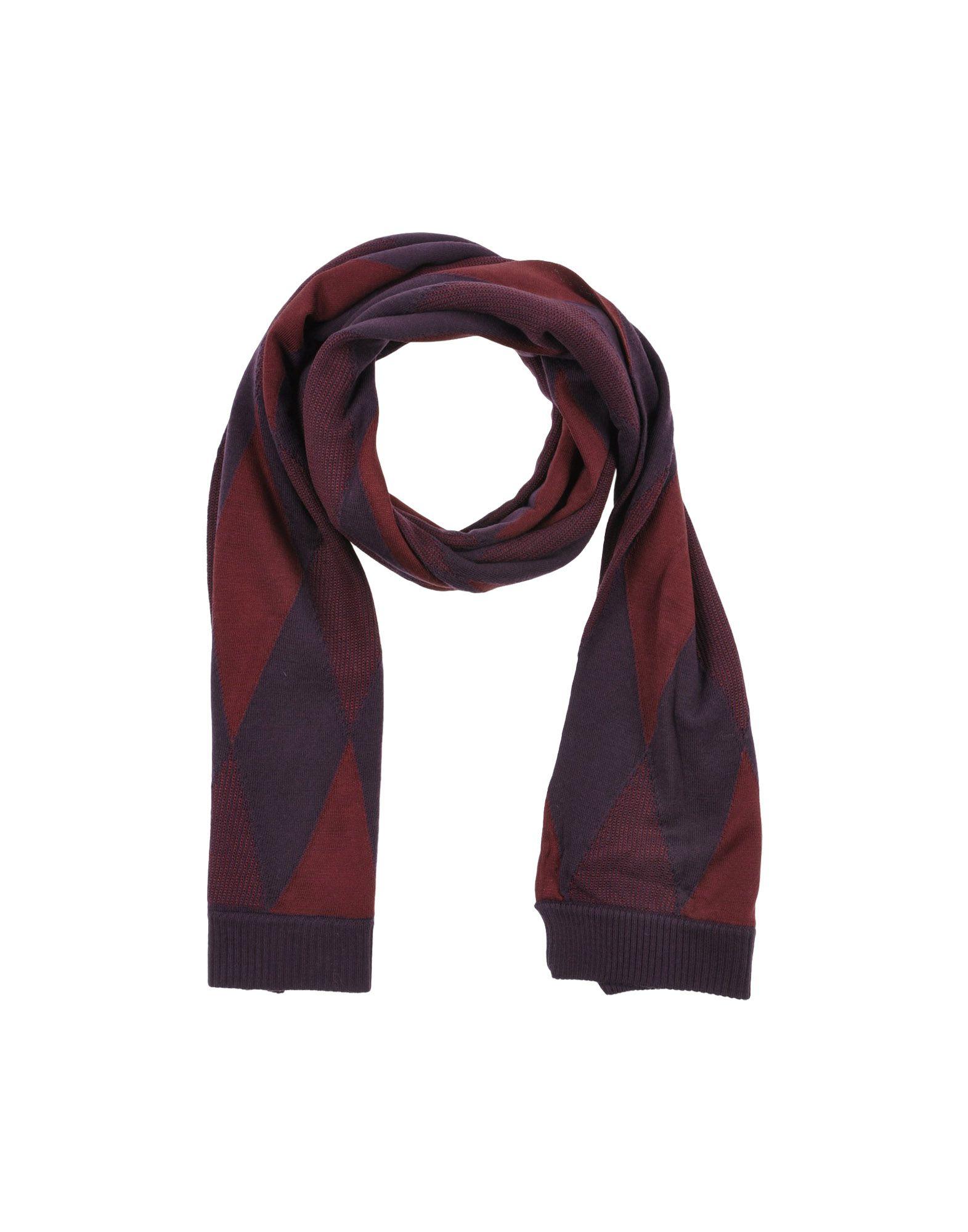 pringle of scotland oblong scarf in purple maroon lyst