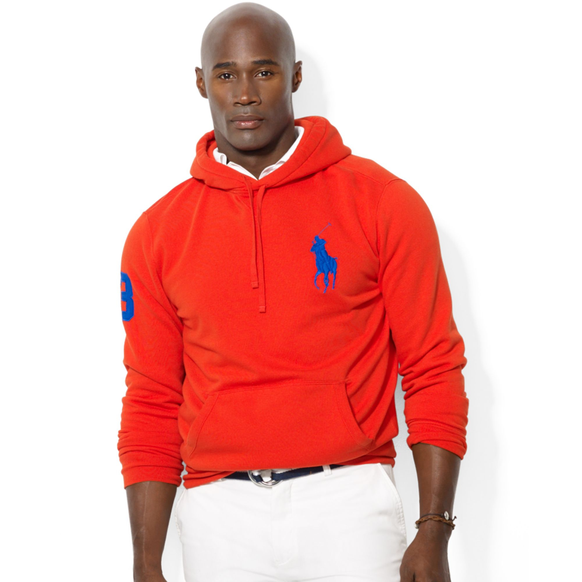 49e6200f75a1 ... french terry pullover hoodie in 1adcc 7ba36  czech lyst ralph lauren  polo big and tall big pony beach fleece pullover 7de43 49ed8