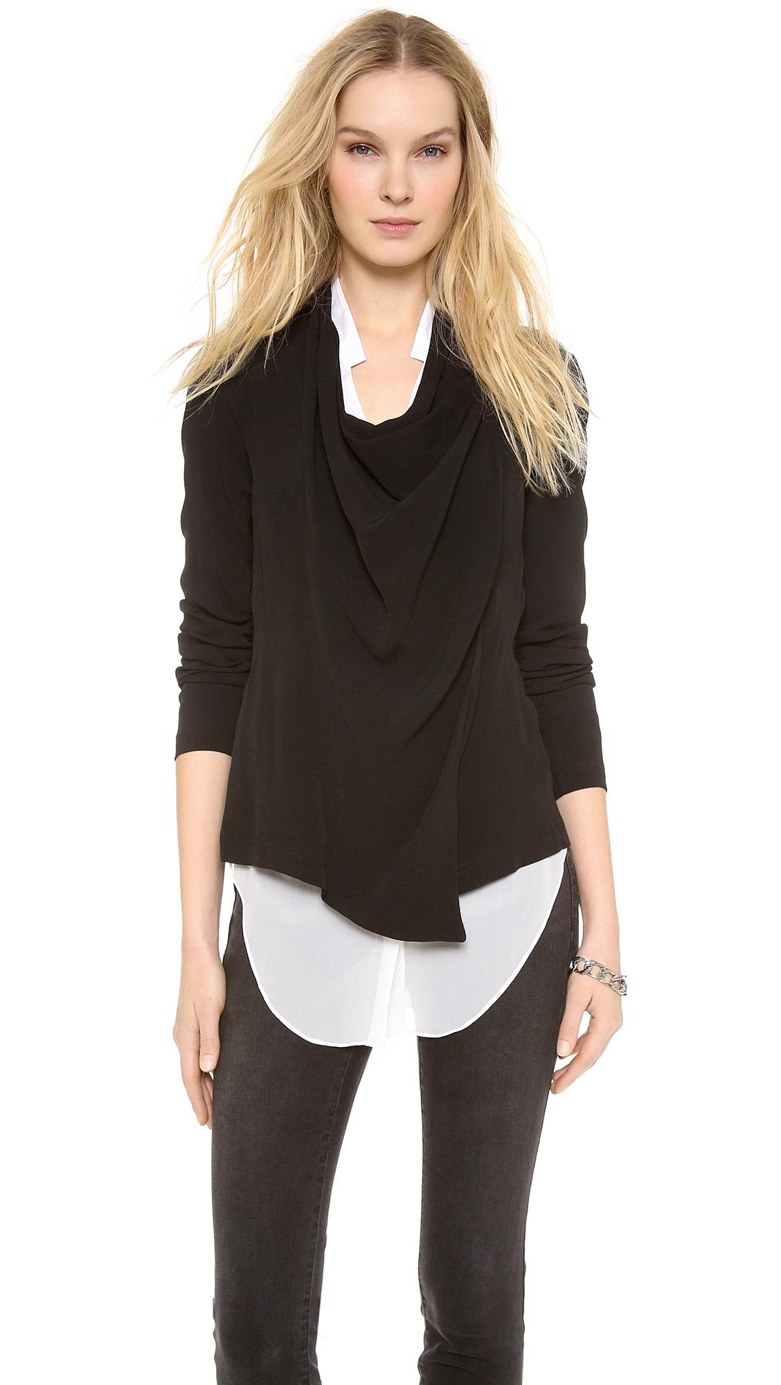 Lyst Dkny Pure Asymmetrical Jacket In Black