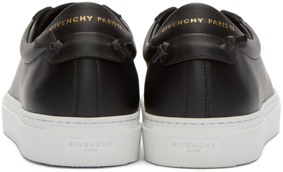 Givenchy Leather Black Knots Sneakers