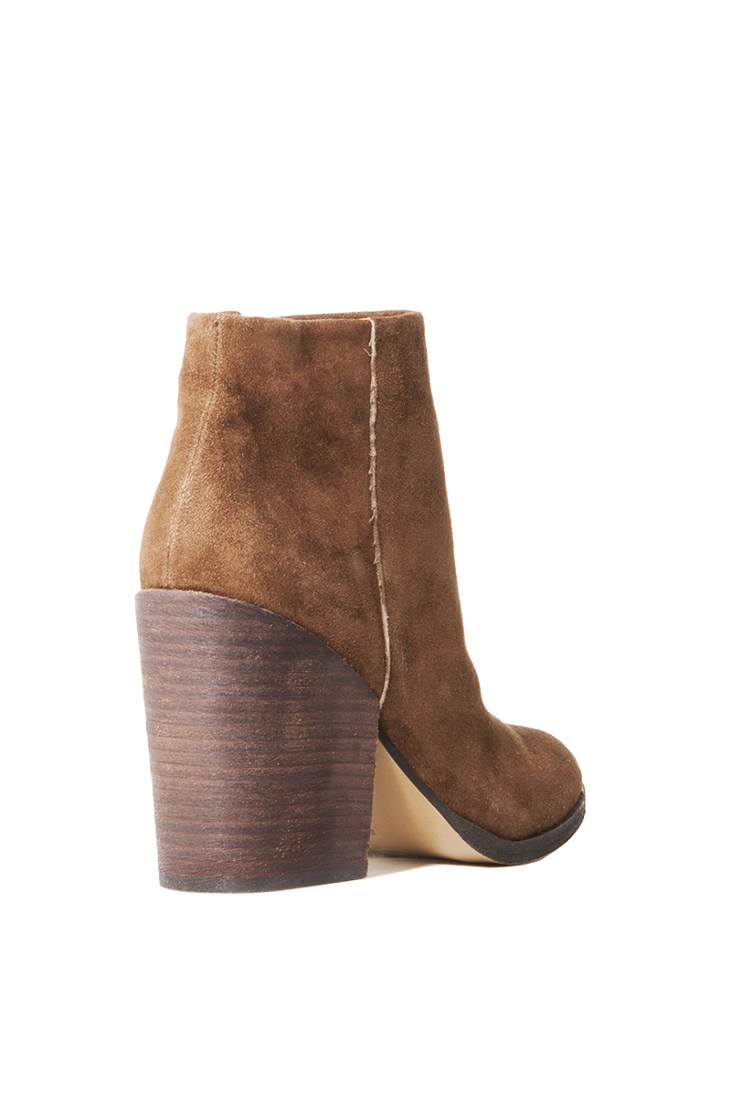DV by Dolce Vita Marlyn Ankle Booties in Khaki Suede (Brown)