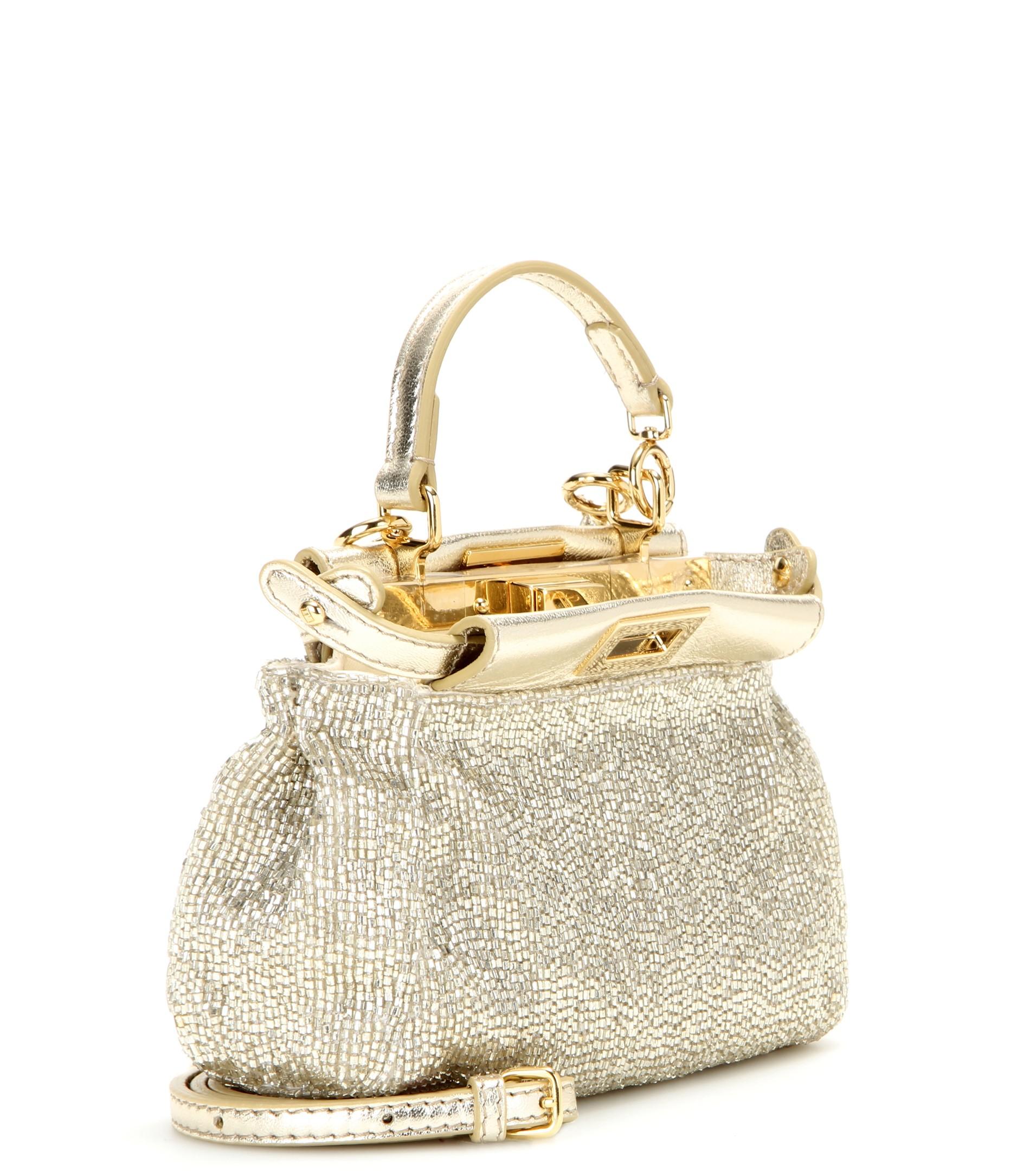 518d30c7b50 Fendi Metallic Pouch Micro Embellished Shoulder Bag