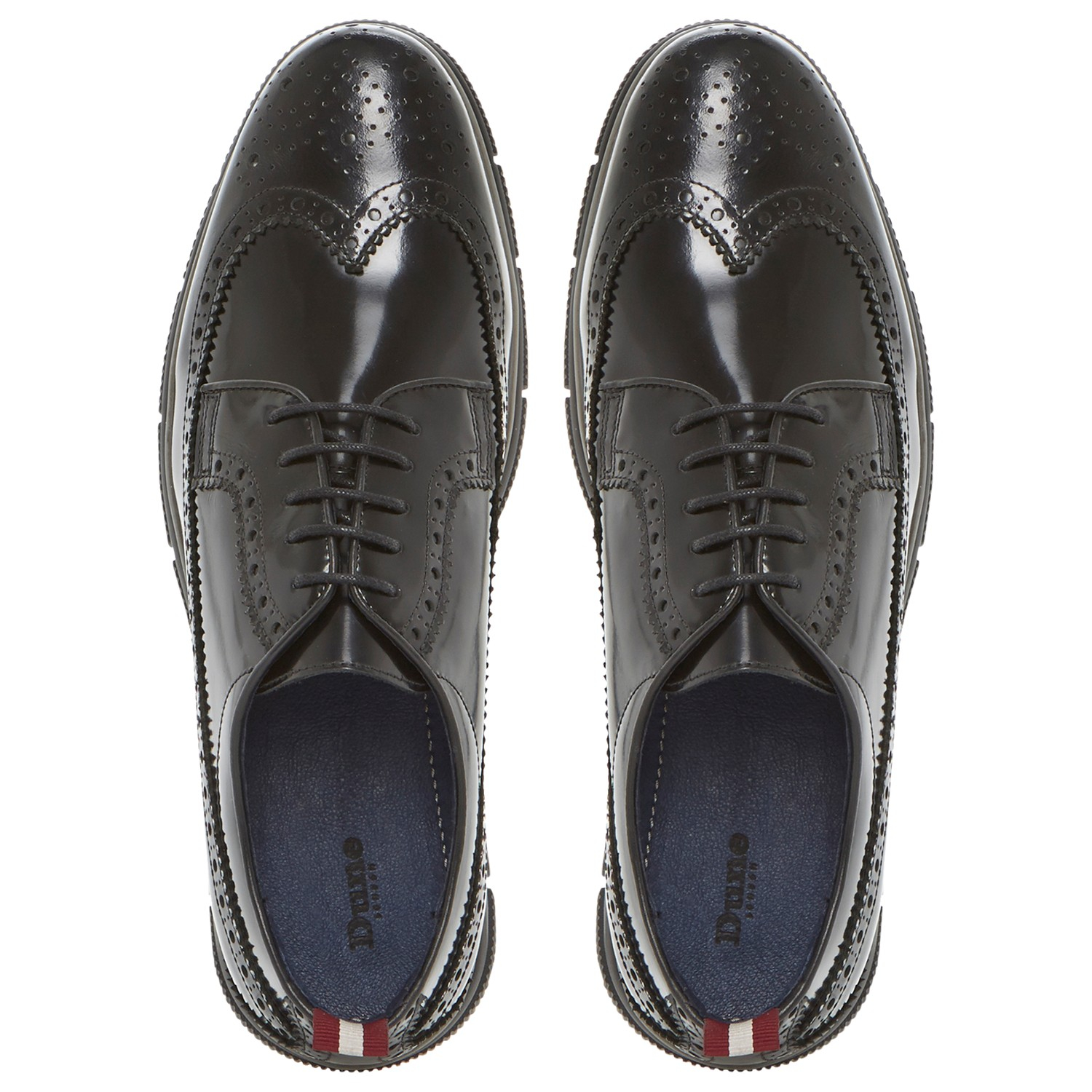 Dune Banger Lace Up Cleated Wedge Polido Brogues in Black for Men