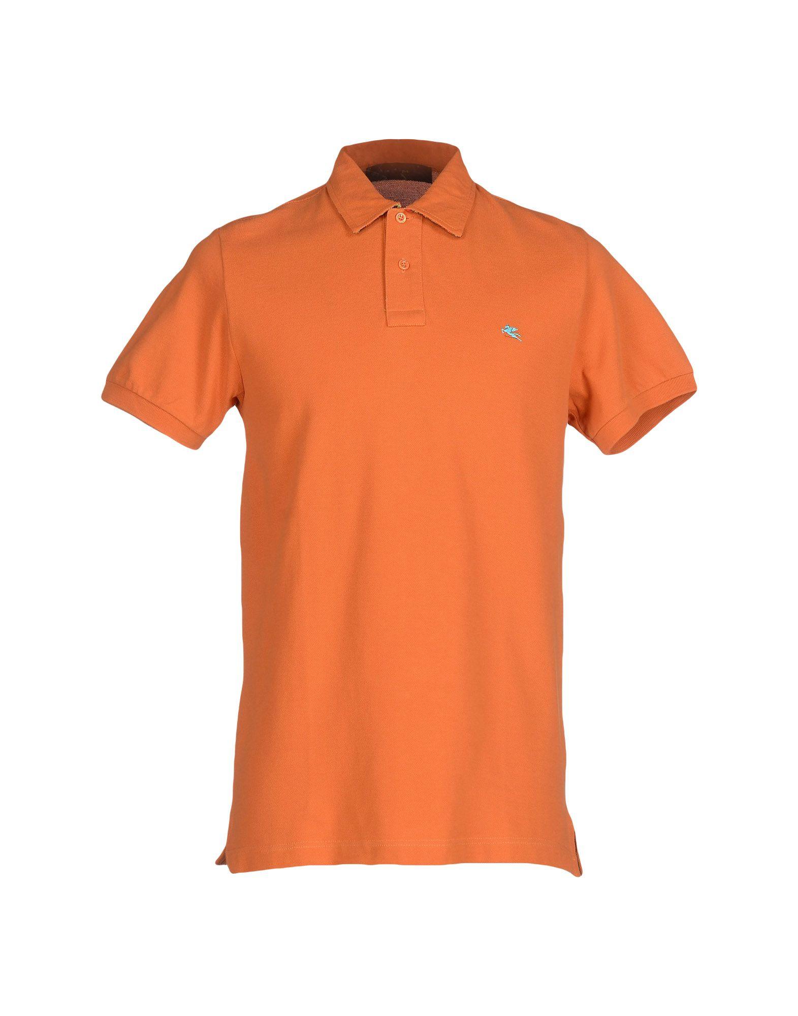 Etro polo shirt in orange for men lyst for Orange polo shirt mens