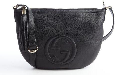 1ff869bd2a19 Gucci Black Leather Gg Soho Messenger Bag | Stanford Center for ...
