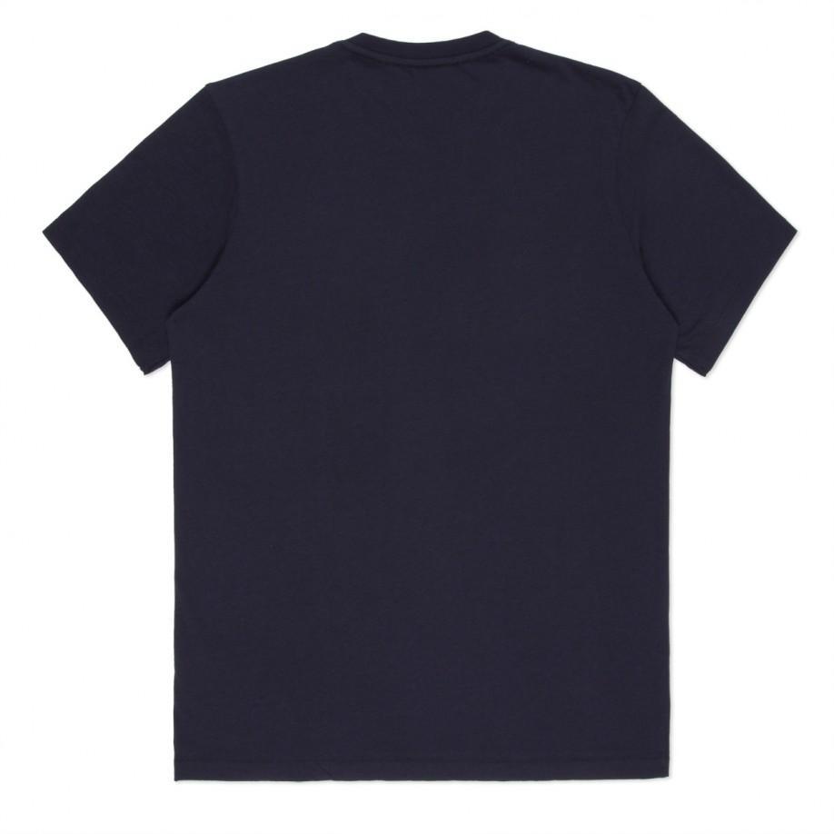 Paul smith navy hawaii print organic cotton t shirt in for Organic cotton t shirt printing
