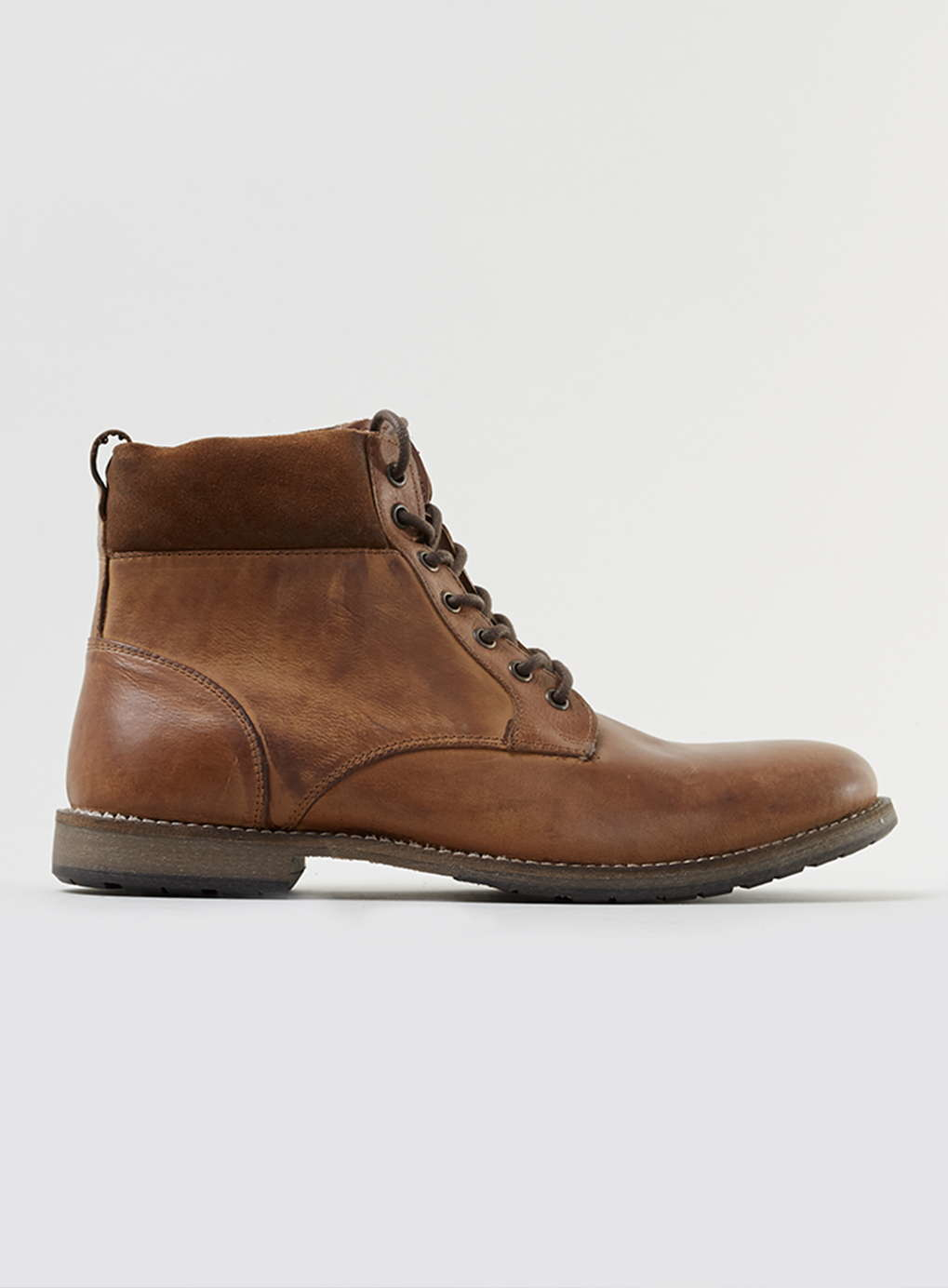 topman leather cuff boots in brown for lyst