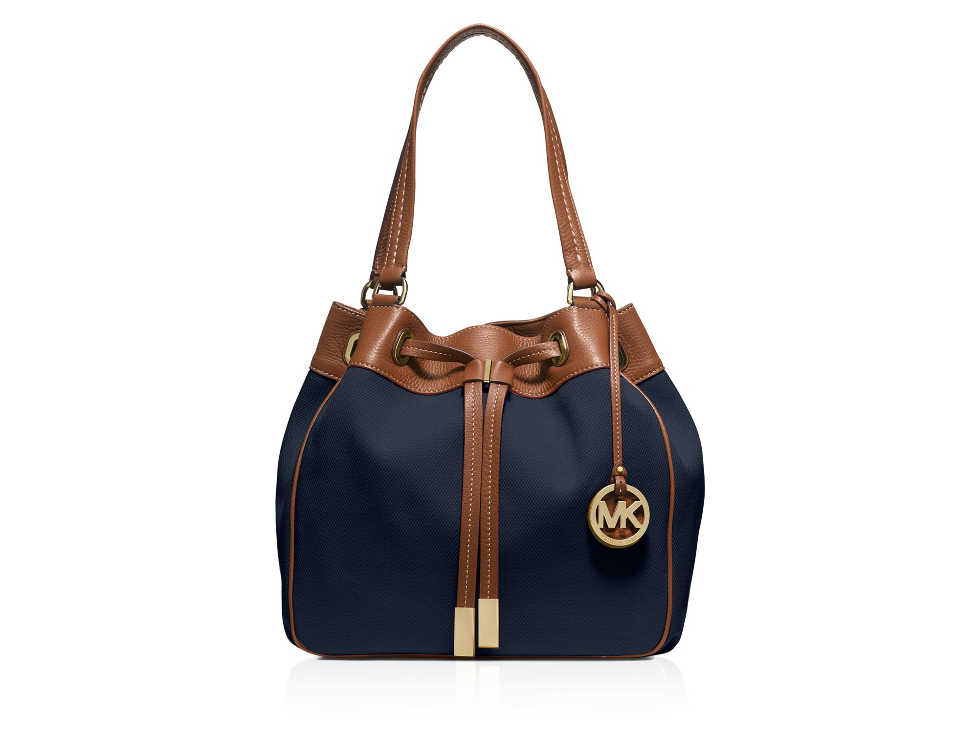 Michael michael kors Large Marina Drawstring Canvas Shoulder Bag ...