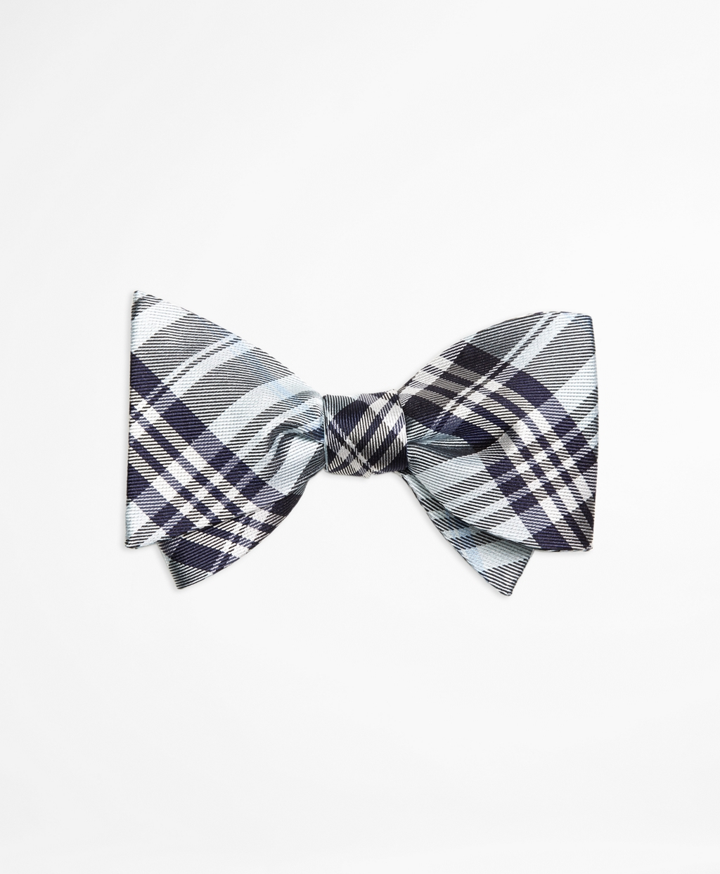 Lyst - Brooks brothers Plaid Bow Tie in Blue for Men