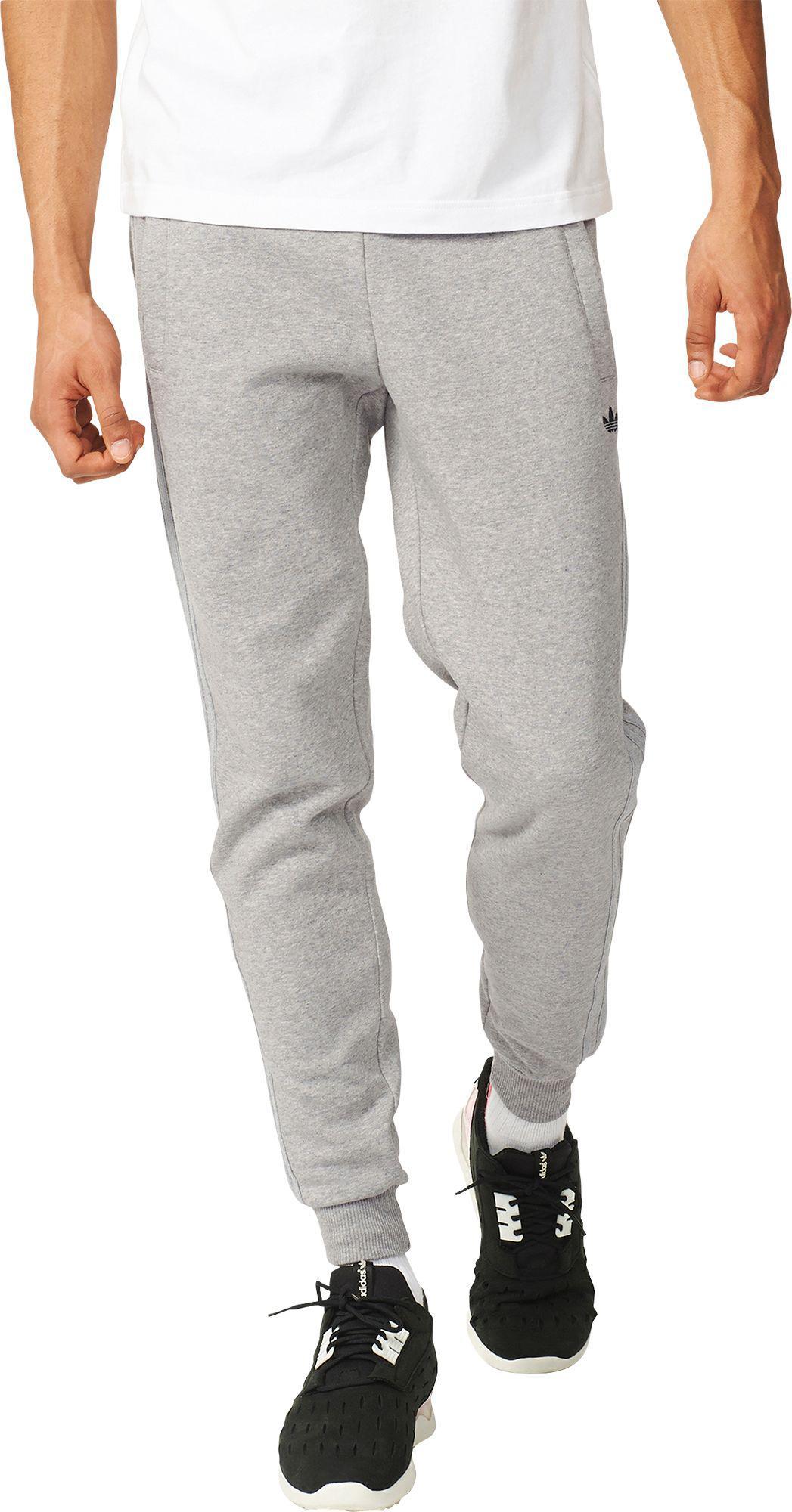 3fac8ae042 Adidas Gray Originals Classic Trefoil Cuffed Sweatpants for men