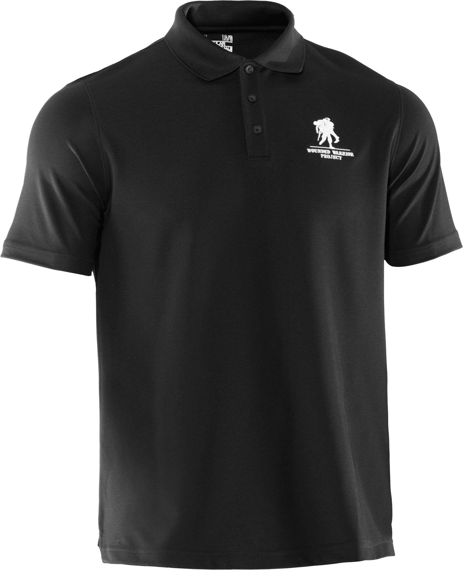 985c3499 Under Armour - Black Wounded Warrior Project Performance Polo Shirt for Men  - Lyst
